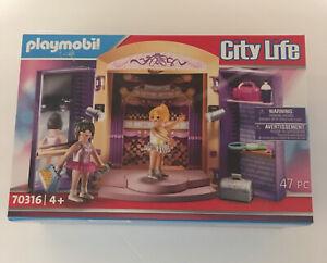Playmobil City Life Dance Studio Play Box Building Set 70316