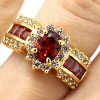 Vintage Antique Ruby Ring Women Anniversary Wedding Birthday Jewelry Size 6 7 8