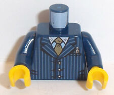 Lego Minifig Torso x 1 Dark Blue Pinstriped Jacket Pattern
