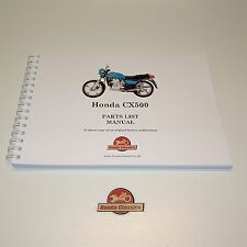 Honda CX500 Parts List Book Manual 1970s, Reproduction. HPL017