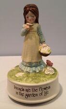 Vtg 1974 Rotating Holly Hobbie Figurine Music Box Plays Lara's Theme Euc
