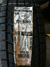 1 New 225 60 17 Dunlop Winter Maxx SJ8 Snow Tire