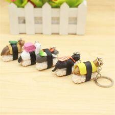 Sushi Cat Sushi Food Key Ring Key Chain Handbag Accessories Fashion Jewelry