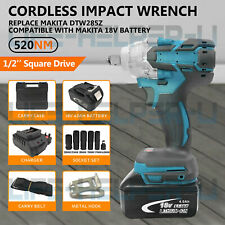 "Cordless Impact Wrench Brushless 1/2"" Driver 18V With Battery Replace Makita UK"