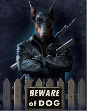Beware of Dog Lenticular 3D Picture Animal Poster Painting Home Wall Art Decor