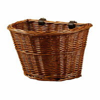 Vintage Wicker Bicycle Basket Front Handlebar Basket Bike Woven Cargo Container