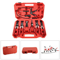 UK Hose Clamp Clip Plier Set Flat Angled Band Practical Auto Tool Accessories