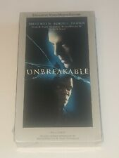 Unbreakable Vhs New Sealed Bruce Willis Samuel L. Jackson With Deleted Scenes