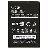 Battery For BLU Studio Mega S610, Advance A6 A190P C986241250L 3.8V 2500mAh New