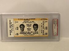 Sugar Ray Leonard Vs Duran June 20 1980 FULL Boxing Ticket PSA 8