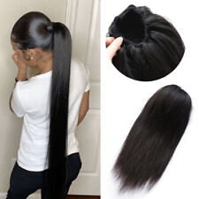 Drawstring Clip in Human Hair Ponytails Hairpiece Ponytail Hair Extension 120g