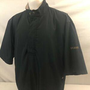 DryJoys by FootJoy Men's 1/4 Zip Short Sleeve Rain Jacket Medium Black Pullover