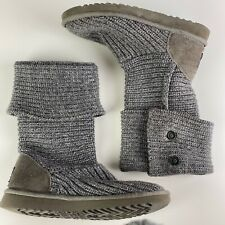 Women's UGG AUSTRALIA Cardy Grey Knitted Boot UK Size 6.5 (EU 39) Cardi