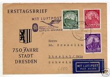 GERMANY DDR 56 AM Cover Dresden Liestal CH   a4731