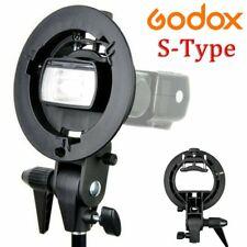 Godox S-Type Bracket Bowens S Mount Holder For Speedlite Flash Softbox Honeycomb