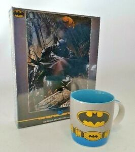 DC COMICS BATMAN DESIGN 1000PCE JIGSAW PUZZLE & CERAMIC COFFEE MUG