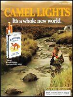 1984 Man smoking mountain stream Camel cigarettes vintage photo print Ad  ads10