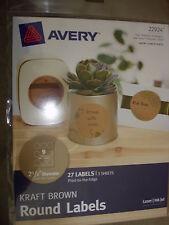 AVERY KRAFT BROWN ROUND LABELS 22924