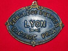 Ancienne plaque concours CHEVAUX Elevage Prix LYON Cercle de L'Etrier
