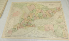 """1908 Rand McNally MAP of ONTARIO, CANADA/Huge 20.5x28"""" /Includes Index/SCARCE"""