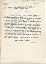 I450-LOMB.VENETO-FURTI E GUASTI ALLE LINEE TELEGRAFICHE 1849