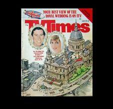 Dollshouse Miniature Newspaper - TV Times 1981 Wedding of Charles and Diana