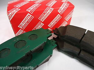 TOYOTA COROLLA FRONT BRAKE PADS ZRE152 SEDAN & HATCH FROM MARCH 07> NEW GENUINE