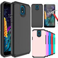 For LG K30 2019/Tribute Royal Phone Case Cover/ Tempered Glass Screen Protector