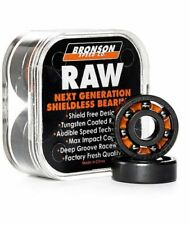 Bronson Speed Co Bearings Raw 8 Pack Next Gen Shieldless Skateboard Bearings