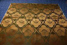 "Copper Gold Khaki Vintage Japanese Kimono Synthetic Silk Upholsery Fabric 50"""