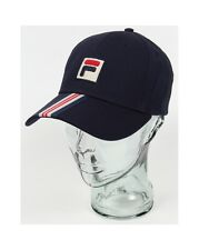 Fila Vintage Walker Baseball Cap in Navy Blue - curved peak hat