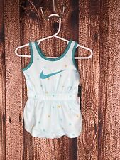 NWT Nike Baby Girl Dri-Fit Bodysuit Romper Size 3 Months Light Green One Piece