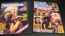 5 Music/Poster Mags: Heavy Metal/Metal Edge +M Jackson +George Michael/Song Hits