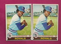 2 X 1979 TOPPS # 157 ROYALS UL WASHINGTON ERROR CARD (INV# A3474)