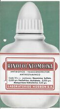 L4691 Vintage Medical Advertising Card Rinofol Medicine Science