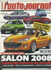 L'AUTO JOURNAL n°728 05/07/207 SPECIAL SALON 2008