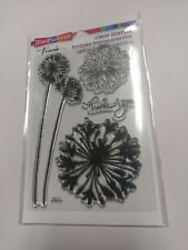Agapanthus Thanks Flower Clear Acrylic Stamp Set by Stampendous Stamps SSC1111