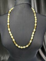 Lovely Vintage  Lemon Moonstone Colour Lucite Necklace by Napier Jewellery