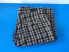 Mens Hurley Shorts Long style Shorts Size: 32 Waist Black and Tan Plaid