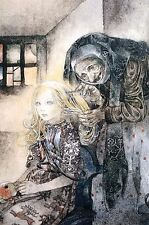 Sulamith Wulfing 2013 Matted Calendar Print  -  GERD Old Hag COMBING CHILDS HAIR