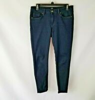 Just Black Skinny Jeans Ankle Length Crop Women's Size 28 Stretch Made In USA