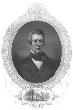 LINCOLN Secretary of State WILLIAM HENRY SEWARD ~ Old 1856 Art Print Engraving