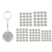 100x Metal Flat Round Blank Coin Stamping Charm Tag Engrave Disc Coin mixed