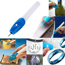Elektrische  Graveur Pen Carve DIY Werkzeug für Schmuck Schmuck Metall Glas O9T6
