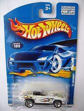 Hot Wheels '65 Corvette - White 2001 Mainline Cars #109 oldie vette roadster car