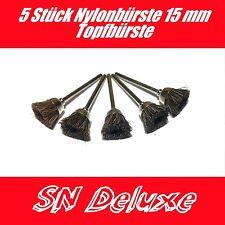 5 Stück Nylonbürste Nylon Topfbürste Bürste 15mm für Dremel, Proxxon Zubehör