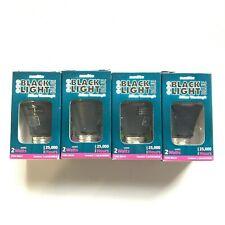 Sunlite UV LED Blacklight Blue Light Bulb 365nm 2W E26 Medium Base (Pack of 4)