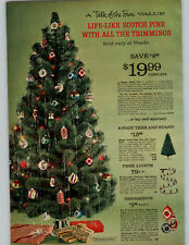 1964 PAPER AD 3 Pg Christmas Tree Ornaments Lights Glass Aluminum Pom Pom Vinyl
