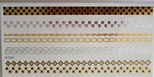 US Seller-Temporary Tattoo-New metallic Trim/Borders-Can also be used for crafts