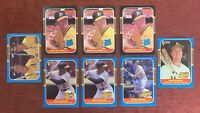 Lot of (8) 1987 Donruss MARK McGWIRE Rated Rookie #46 RC Highlights A's🔥